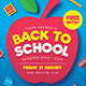 Back To School Event Flyer - GraphicRiver Item for Sale