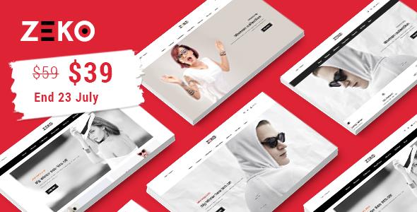 Zeko - Clean Fashion Shopping Responsive Prestashop 1.7 Theme
