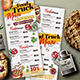 Food Truck Menu - GraphicRiver Item for Sale