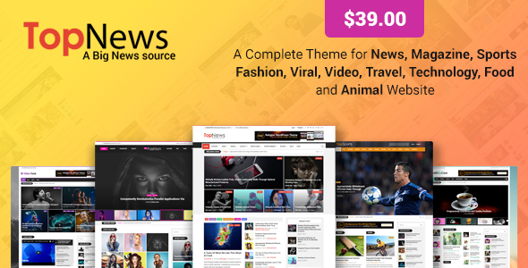 Image of TopNews - News Magazine Newspaper Blog Viral & Buzz WordPress Theme