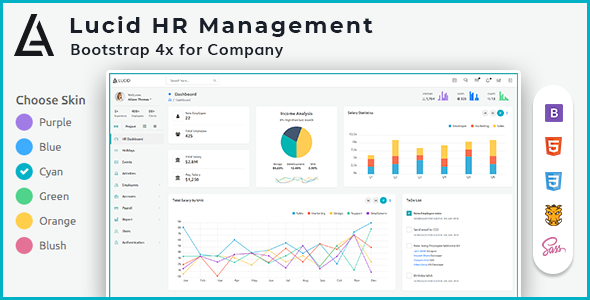 Lucid - HR and Project Management Admin Template