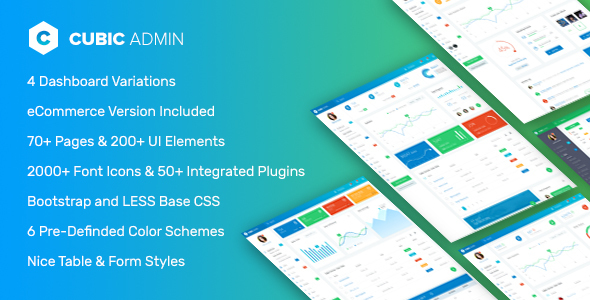 Cubic - HTML & Laravel Admin Theme with CRUD builder, Log Viewer etc