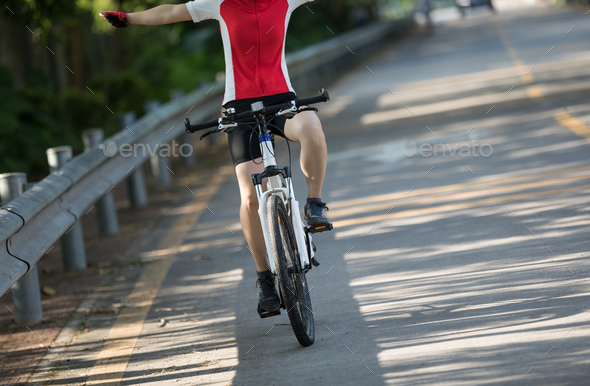 Cycling on the road - Stock Photo - Images