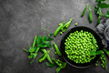 Green peas with pods and leaves - PhotoDune Item for Sale