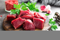 Raw beef meat. Fresh sliced beef sirloin - PhotoDune Item for Sale