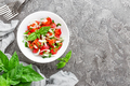 Vegetable salad with fresh tomato, basil and onion - PhotoDune Item for Sale