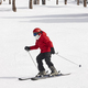 Skiing on a forest slope. White mountain landscape. Winter sport - PhotoDune Item for Sale
