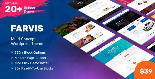 Image of Farvis - Multipurpose WordPress Theme
