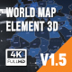World Map Element 3D - VideoHive Item for Sale