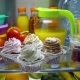Sweet Cakes in the Open Refrigerator. - VideoHive Item for Sale