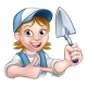 Cartoon Builder Bricklayer Worker Trowel Tool - GraphicRiver Item for Sale