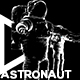 White Line Astronaut VJ Loop Pack (5in1) - VideoHive Item for Sale