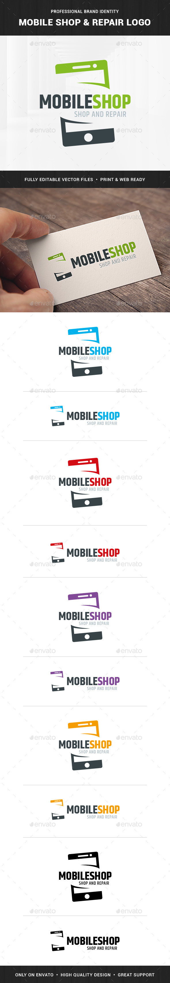 Mobile Shop & Repair Logo - Objects Logo Templates