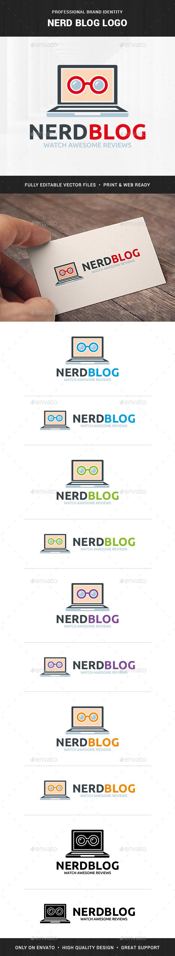 Nerd Blog Logo Template - Objects Logo Templates