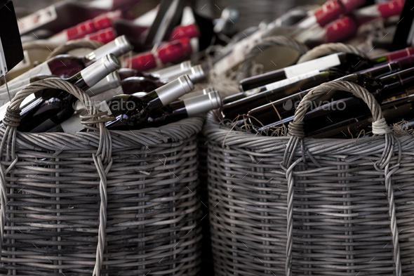 Bootles in baskets - Stock Photo - Images