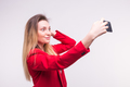 Beautiful young woman making selfie - PhotoDune Item for Sale