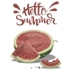 Piece of Watermelon with the Inscription Hello - GraphicRiver Item for Sale