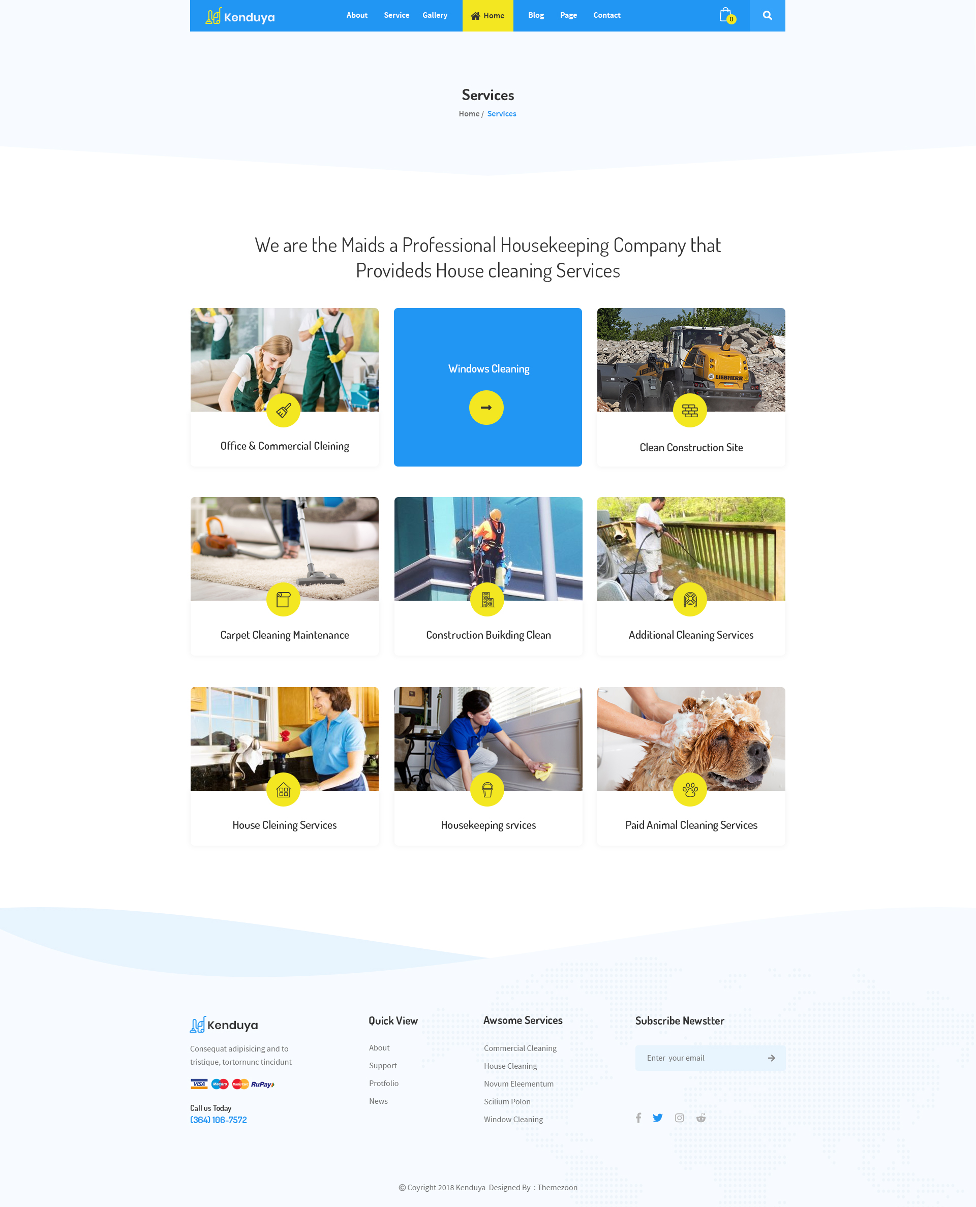 Kenduya Cleaning Company Psd Template By Themezoon Themeforest