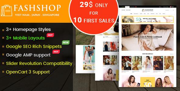 FashShop - Multipurpose Responsive OpenCart 3 Theme - OpenCart eCommerce