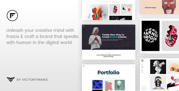 Image of Fraxos - Creative Portfolio WordPress Theme