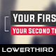 Flat Dynamic Lower Third 4 - VideoHive Item for Sale
