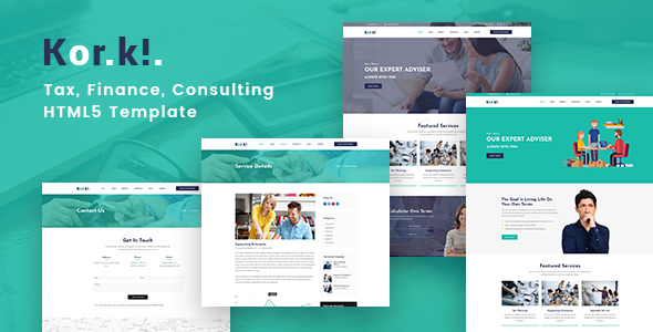 KorKi - Tax & Finance Bootstrap 4 Template