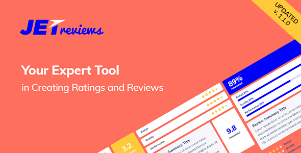 JetReviews - Reviews Widget for Elementor Page Builder - CodeCanyon Item for Sale