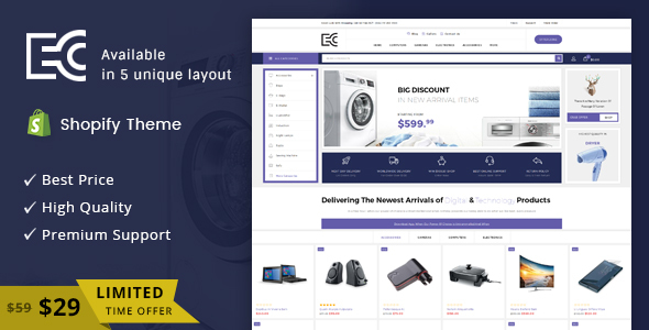 Image of eCode - Sectioned Multipurpose Shopify Theme