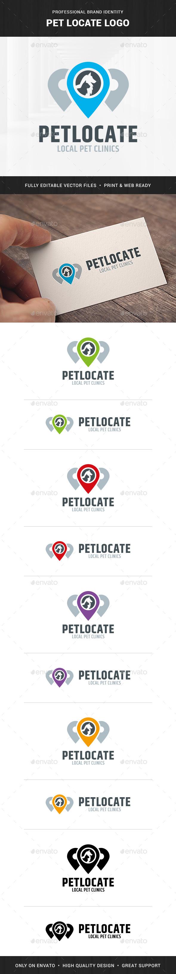 Pet Locate Logo Template - Animals Logo Templates