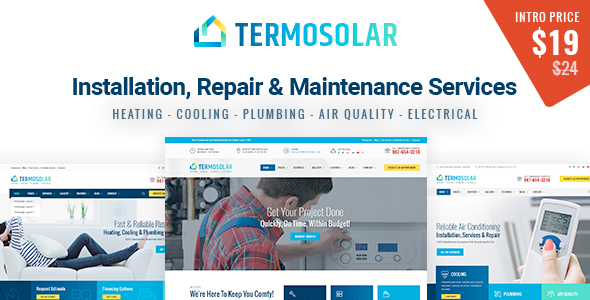 Termosolar - Installation, Repair & Maintenance Services HTML Template