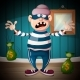 Crazy Cartoon Thief Character - GraphicRiver Item for Sale
