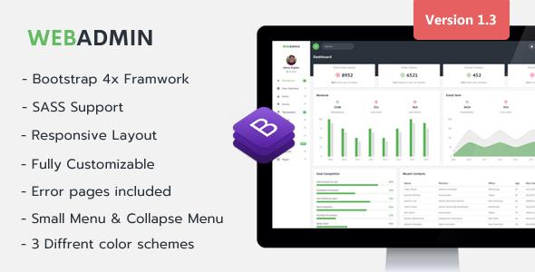 Webadmin - Responsive Admin Dashboard Template - Admin Templates Site Templates