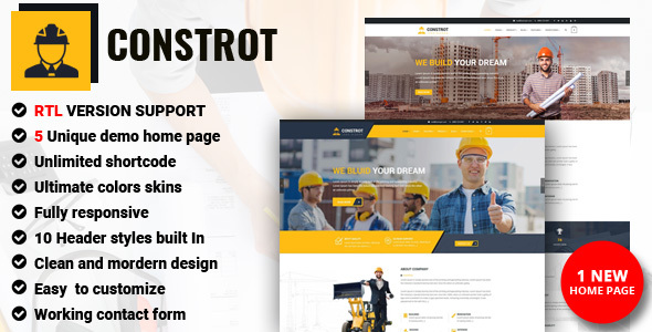 Construction - Construction Building Company - Corporate Site Templates