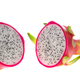 Dragon fruit cut half (Two pieces) on white background. - PhotoDune Item for Sale