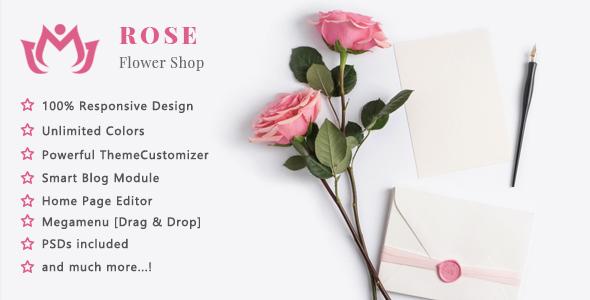 Image of Rose - Flower Shop and Florist Responsive Prestashop 1.7 Theme