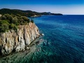 Aerial view of a rocky coastline Mediterranean Sea. Greece - PhotoDune Item for Sale