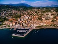 Aerial view of the coast of Lake Garda and a city in Italy. - PhotoDune Item for Sale