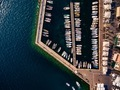 Aerial view of marina lot. Boats in the port in Italy. - PhotoDune Item for Sale
