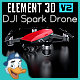 DJI Spark Drone for Element 3D - 3DOcean Item for Sale