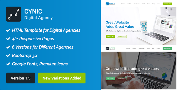 Digital Agency/SEO Agency HTML Template - Technology Site Templates