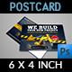Construction Postcard Template Vol.3 - GraphicRiver Item for Sale