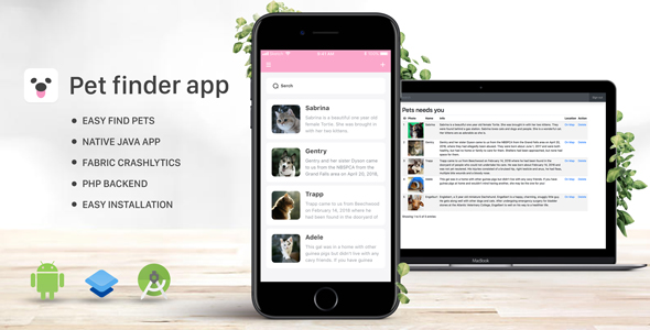 Pet Finder - Android Full Native App - CodeCanyon Item for Sale