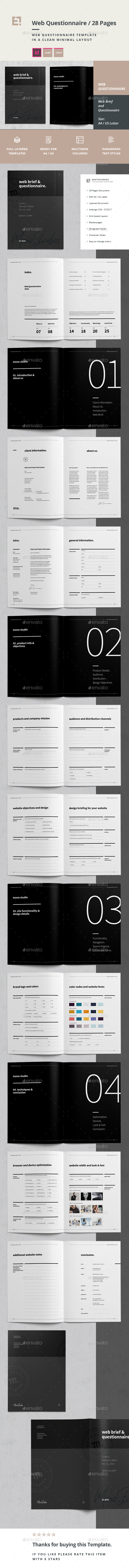 Questionnaire Web Design - Informational Brochures