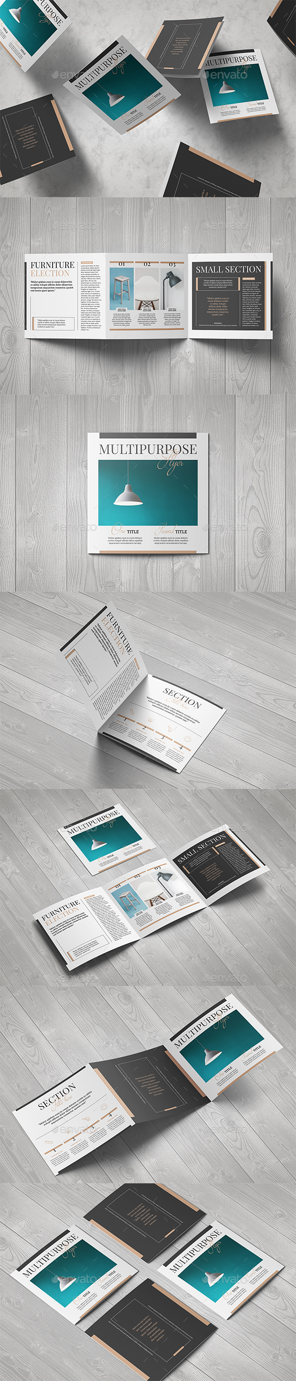 Multipurpose Square Brochure - Brochures Print Templates