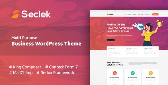 Seclek - Multipurpose WordPress Theme - Business Corporate