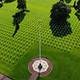 Aerial pan of the American Military Cementery in Normandy. The Garden of the Missing - VideoHive Item for Sale