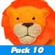 Cute Jungle Animals Cartoon Pack 10 - VideoHive Item for Sale
