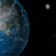 Moon Rotating Around the Planet Earth - VideoHive Item for Sale