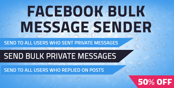 Facebook Bulk Private Message Sender - CodeCanyon Item for Sale