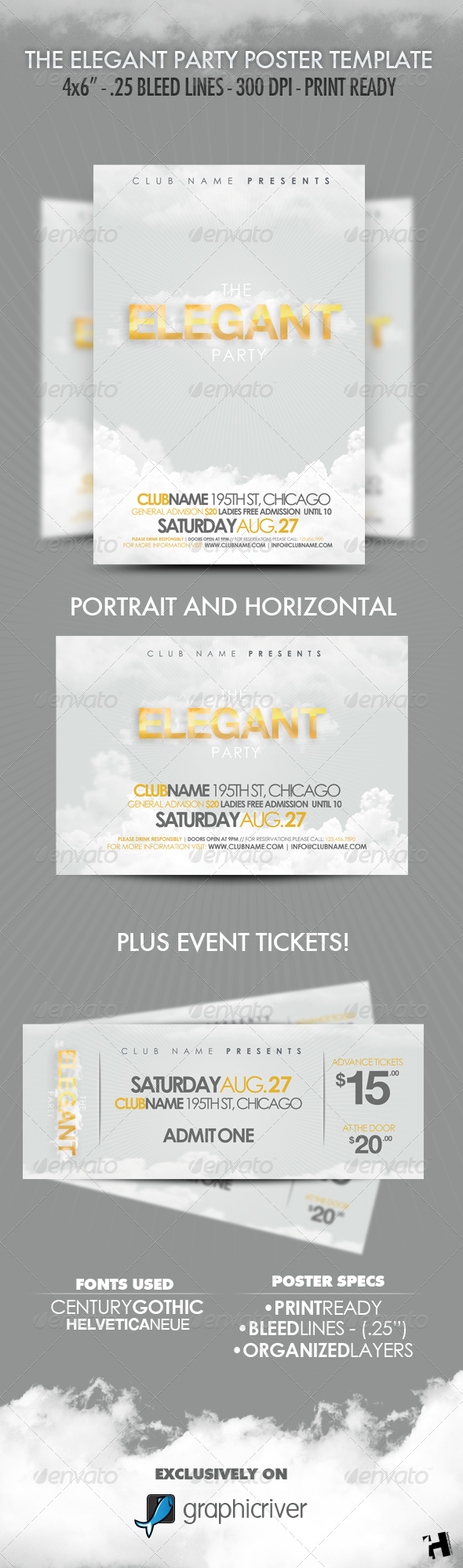 The Elegant Party - Flyer Template - Clubs & Parties Events
